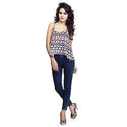 Urban Fashion Bank Womens Top (UFBT9007 -Small_Blue_Small)