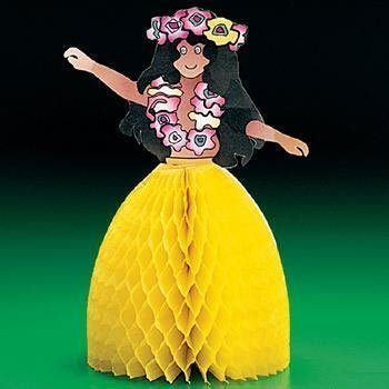 Tissue Hula Girl Centerpiece