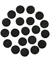 "Black Adhesive Felt Circles; Package of 48, 1.5"" Wide, Die Cut; DIY Projects"