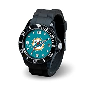 Miami Dolphins Mens Sports Watch - Spirit by Hall of Fame Memorabilia