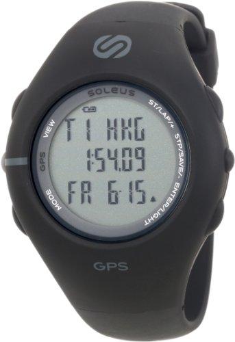Soleus Men's SG001003 GPS 1.0 Black Resin Digital Multi-Function GPS Watch Running Gps