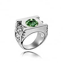 buy Taotaohas Swarovski Elements Crystal Crystallized Ring [Green Lantern, Peridot ] #7 18Kgp Rhinestone
