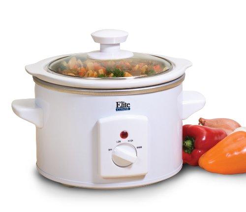 MaxiMatic MST-250XW Elite Cuisine 1-1/2-Quart Round-Shaped Slow Cooker, White (Cuisines Crock Pot compare prices)
