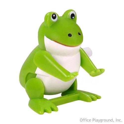 Warm Fuzzy Toys Wind Up Flipping Frog Novelty