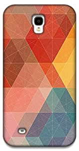 The Racoon Lean Geometric Design with Colors hard plastic printed back case / cover for Samsung Galaxy Mega 6.3