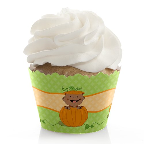 Little Pumpkin African American - Cupcake Wrappers (Set Of 12) front-149513