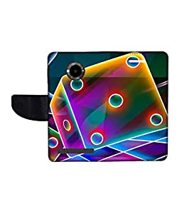 KolorEdge Printed Flip Cover For Micromax Yu YuPhoria Multicolor - (1478-50KeMLogo11451MmxYuPhoria)