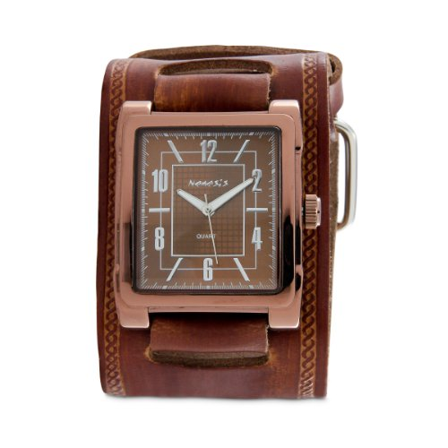 Nemesis Men's BUIN053B Classic Collection Brown Chocolate Leather Band Watch