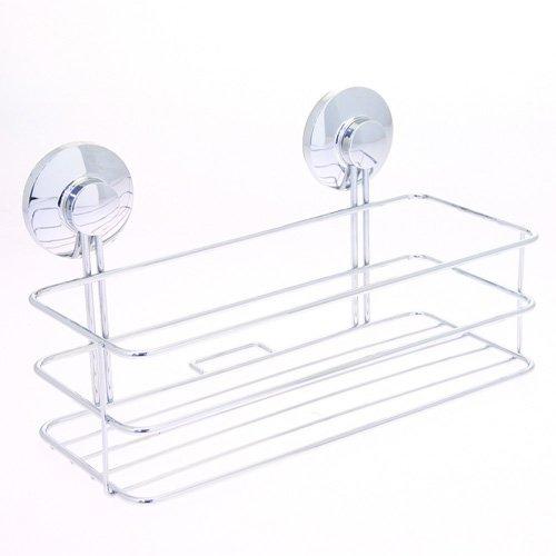 Badezimmer-Regal, 2 Fächer, Metall, mit Saugnäpfen online bestellen