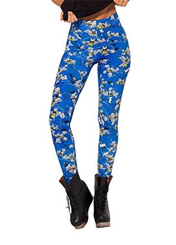 Women'S Fashion Digital Print Batman Pattern Sexy Leggings