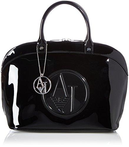 Armani Jeans Shoes & Bags De - 05230Rj, Borsa A Tracolla da donna, nero (nero - black 12), 41x25x17 cm (B x H x T)