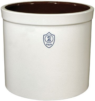 Ohio Stoneware 02436 2 gallon Bristol Crock, Small, White (2 Gallon Stone Crock compare prices)