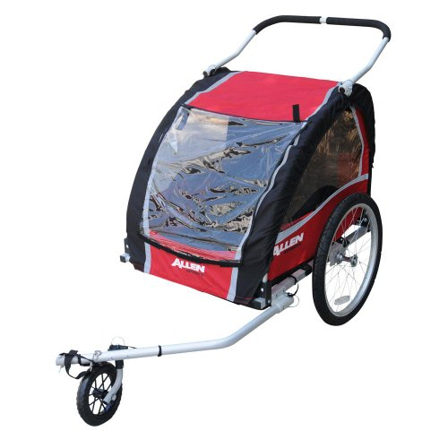 Allen Sports Premium Aluminum 2 Child Bicycle Trailer And Stroller front-355850