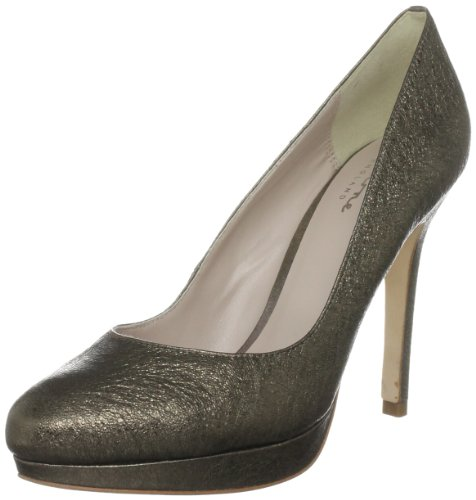 Bourne Women's Agnes Pewter Platforms Heels L09059 6 UK