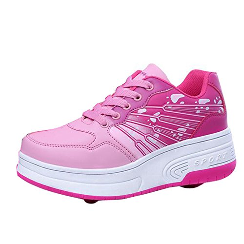 Gaorui bambino e bambina heelys flow scarpe sportive pattini con le ruote