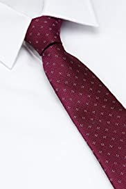 Autograph Pure Silk Textured Spotted Tie