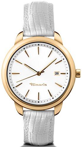 Tamaris - B09115010 - Montre Femme - Quartz - Analogique - Bracelet Cuir Blanc