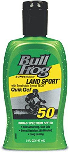 Bull Frog Land Sport Quik Gel Sunscreen, SPF 50 5 fl oz (147 ml)