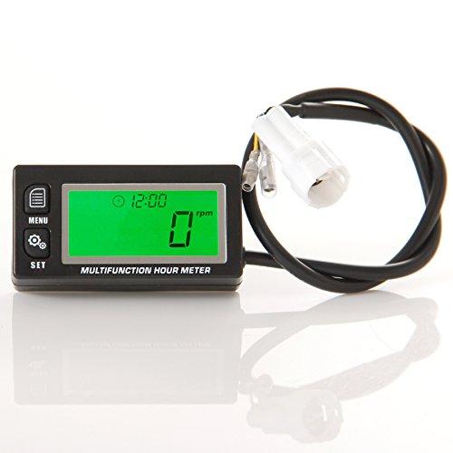 runleader-rl-hm028-inductive-tachometer-with-hour-meter-voltmeter-backlit-display-for-all-gasoline-e