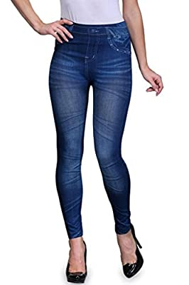 Spadille Women's Blue Jeans Printed Jeggings (Free_Size_26-32)