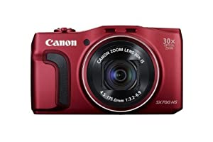 Canon PowerShot SX700 HS Digital Camera (Red) Color: Red