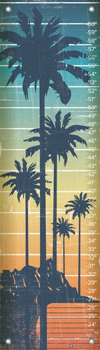 Oopsy Daisy Growth Charts Ocean Pacific by Marcie Carson, 12 by 42-Inch