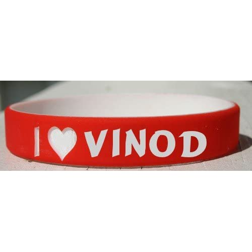 Amazon.com : I Love Vinod personalized wristband (first name/surname