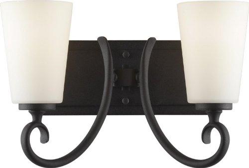 Murray Feiss Vs16502-Bk Peyton 2 Light Bathroom Vanity Light, Black