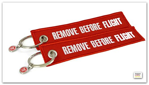 "Portachiavi - 2 pacchi - ""Remove Before Flight"" *** ""Original"" ***"