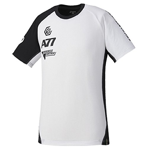 アシックス asics /半袖 Tシャツ A77 ランニング トレーニングウェア 限定生産 メンズ スポーツウェア ジム 吸汗速乾 ユニセックス /XA6192 (S, (0190)ホワイト/ブラック )