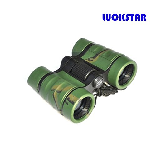 LUCKSTAR(TM) 4X30 Outdoor Plastic Folding Toy Binoculars Telescope Promotional Gift Toy Binoculars Party Favors for Kids-Green