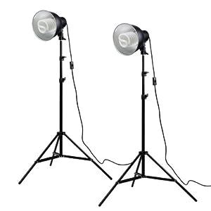 PhotoSEL LS12E52 Studio Lighting Kit - 2 x 85W 5000lm 5500K 90+ CRI