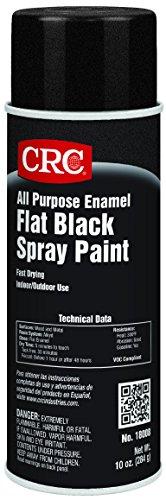 CRC All Purpose Enamel Spray Paint, 10 oz Aerosol Can, Flat Black (Black Spray Can compare prices)
