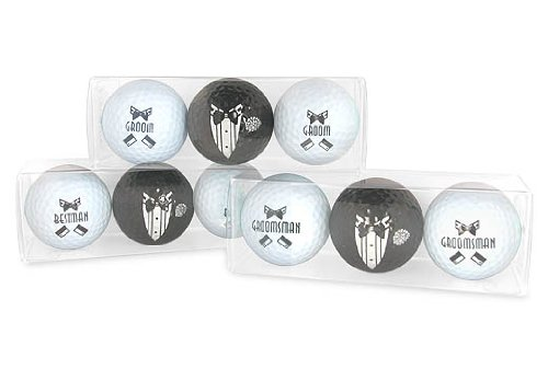 Men's Bridal Party Golf Ball Set - Groom