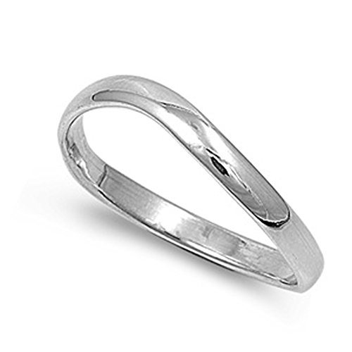 Sterling Silver Woman'S Men'S Thumb Ring Strong Unique Comfort Fit 925 Band 3Mm Size 10 Valentines Day Gift