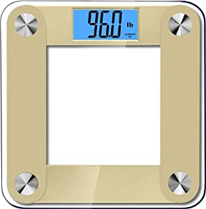 Balancefrom High Accuracy Plus Digital Bathroom Scale with Backlight LCD and Step-On Technology, Gold