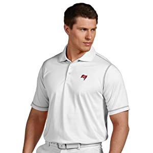 NFL Tampa Bay Buccaneers Mens Icon Desert Dry Polo by Antigua