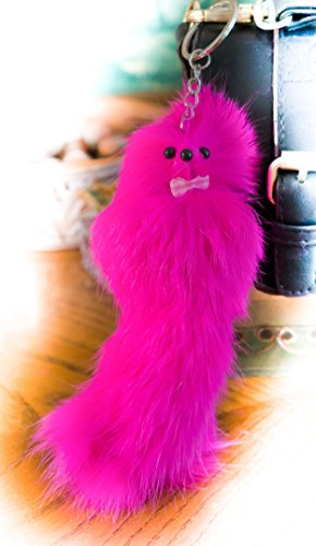 [BUY 2 GET 1 FREE! *SALE* 20cm Hot pink Large Furry Friend Handmade Fur Keyring Daughter Quality Shoulder Bag Charm Furry Fuzzy School Special occasion Birthday Anniversary Wedding Gifts Hot] (Fawn Costume Headband)