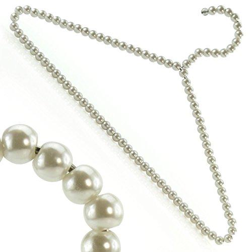 Hangerworld Lot de 6 cintres décoratifs en métal perlés pour vêtements/robes