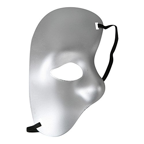 [Sey's Toy - Phantom Of The Opera Masquerade Fancy Half Face Mask Theatre Drama Halloween / Silver] (Dog Phantom Of The Opera Costume)