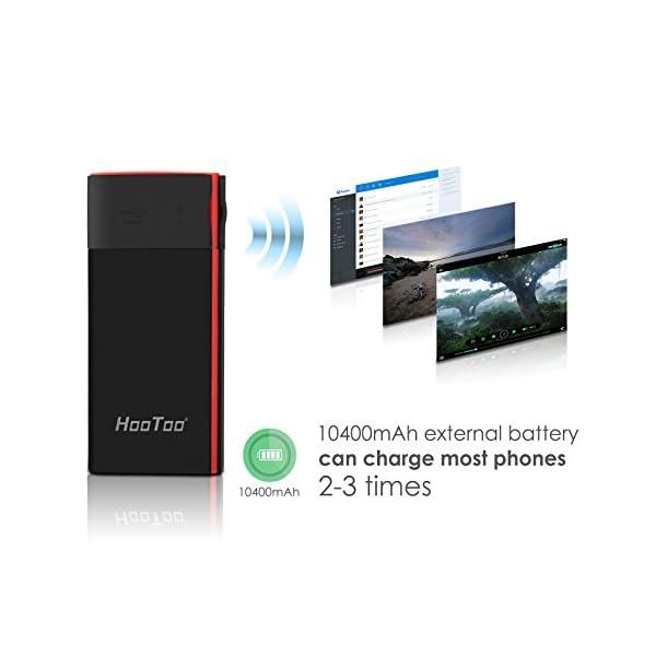 HooToo-Lecteur-de-Disque-Dur-Routeur-Sans-fil-portable-NAS-10400mAh-Batterie-Externe-Point-daccess-TripMate-Titan