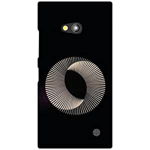Nokia Lumia 730 Back Cover - Thick Circle Designer Cases