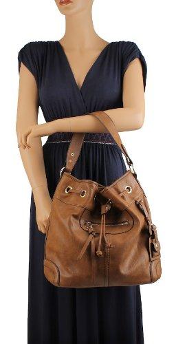 Scarleton Large Drawstring Handbag H107804 - Brown