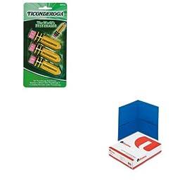 KITDIX38953UNV56601 - Value Kit - Ticonderoga Shaped Eraser (DIX38953) and Universal Two-Pocket Portfolio (UNV56601)