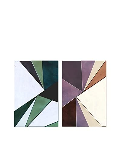 Oliver Gal Deco Diptych Canvas Art