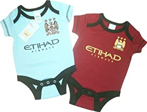 Brecest Babywear Manchester City Football Club - Body de manga corta, diseño del Manchester