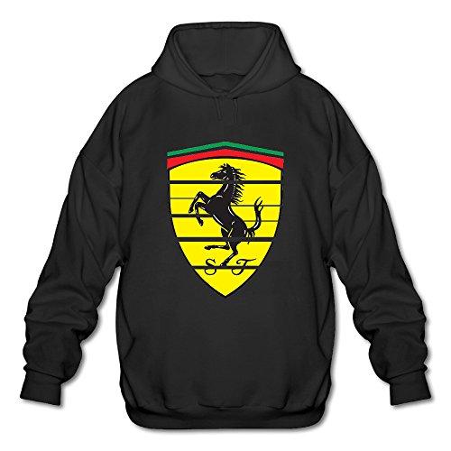 ZOENA Men'sCool Ferrari Emblem Pullover Sweatshirt Black Large (Paw Patrol Emblem compare prices)