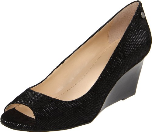Rev Calvin Klein Women's Shelley Mini Square Print Wedge Pump