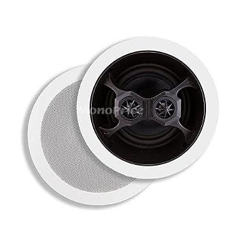 """Monoprice """"environ 16,5 cm de verre Composite - 3 voies double bobine, haut-Parleurs stéréo + PLAFONNIER"""