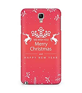 Amez designer printed 3d premium high quality back case cover for Samsung Galaxy Note 3 Neo (Merry Christmas Floral)